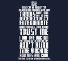 The Doctor Tardis Grunge version Kids Tee