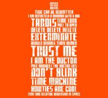 The Doctor Tardis Grunge version Kids Clothes