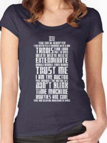 The Doctor Tardis Grunge version Women's Fitted Scoop T-Shirt