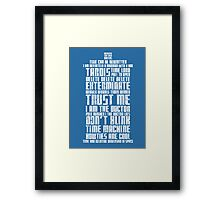 The Doctor Tardis Grunge version Framed Print