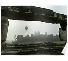 Angkor Wat in the morning Mist Poster