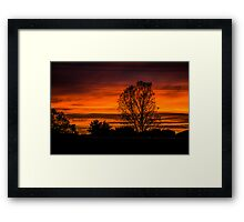 Cranny Sunrise Framed Print