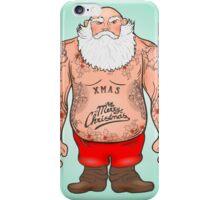 Brutal Santa Claus Bodybuilder, tattoos iPhone Case/Skin
