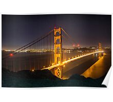 The Golden Gate Bridge from the Marin Headlands Poster