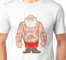 Brutal Santa Claus Bodybuilder, tattoos Unisex T-Shirt