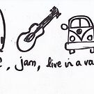 Surf Jam Live in a van by Sharon Poulton