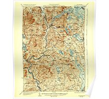 USGS TOPO Map New Hampshire NH Holderness 330087 1927 62500 Poster