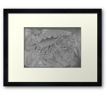 Family Portrait - in the year of the snake Framed Print
