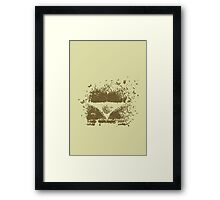 Camper Van of Butterflies Bees and Bugs Framed Print