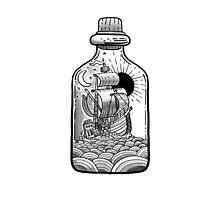 Bottled Sailing Ship by fabric8