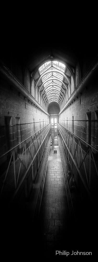 Porridge #2 (Monochrome) - Old Melbourne Gaol, Melbourne Victoria Aust. - The HDR Experience by Philip Johnson