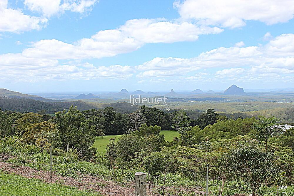 glass house mountains - QLD - Australia  by Jeannine de Wet