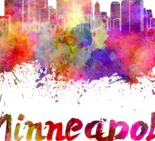 Minneapolis skyline in watercolor Sticker