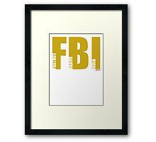 FBI (NATO phonetic) Framed Print