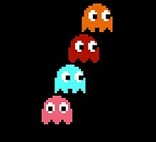 Pac-Man Ghosts by Agkrippa