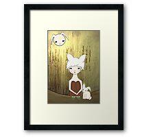 The Bunny Wood Framed Print
