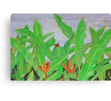 Thai leaves blowing in the Breeze. Canvas Print