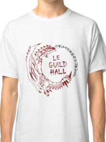 Monster Hunter Le Guild Hall-Rathalos Version 1 Uncolored Classic T-Shirt