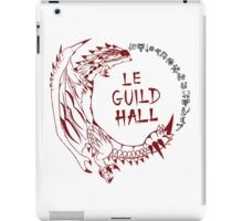 Monster Hunter Le Guild Hall-Rathalos Version 1 Uncolored iPad Case/Skin
