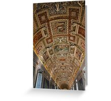 Gallery Ceiling - Vatican Museum - Rome Greeting Card