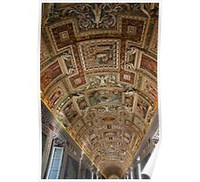 Gallery Ceiling - Vatican Museum - Rome Poster