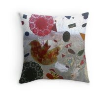 Window painting Throw Pillow
