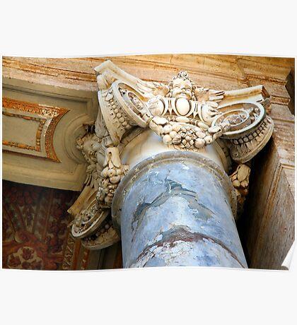 Pillar Capital - St Peter's Church - Vatican City - Rome Poster