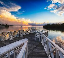 Tranquil View from a Dock by George Oze