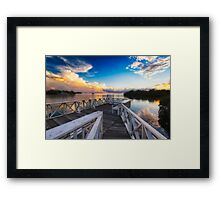 Tranquil View from a Dock Framed Print