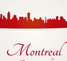 Montreal skyline in red Sticker