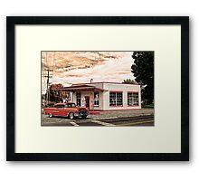 OLD SERVICE STATION JACKSON OHIO Framed Print