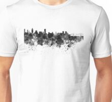 Montreal skyline in black watercolor Unisex T-Shirt