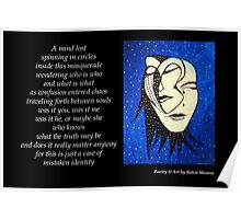 Masquerade - Poetry in Art Poster