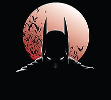 Batman Moon Ipad Case by MrHSingh