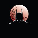 Batman Moon Iphone Case by MrHSingh