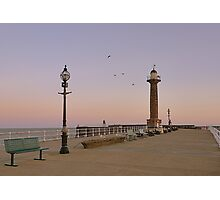 Westcliff Pier, Whitby. Photographic Print