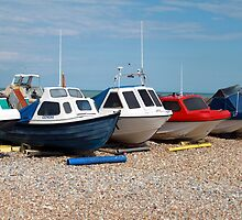 Boats At The Beach by Snapper Jack