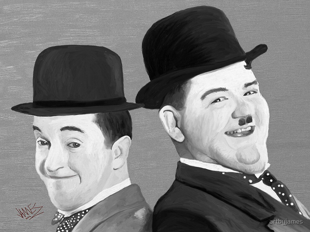 Laurel and Hardy by James Shepherd