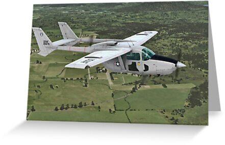 Cessna O-2 Skymaster by Walter Colvin