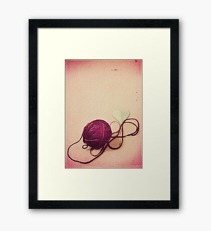 Love is a Tangled Web Framed Print
