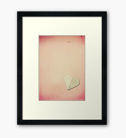 Just My Heart Framed Print