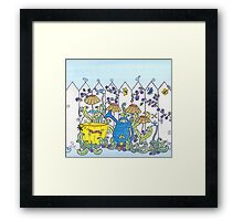 Little People in the Garden Framed Print