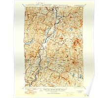 USGS TOPO Map New Hampshire NH Mt Cube 330219 1933 62500 Poster