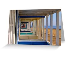Beach Huts Southwold Greeting Card