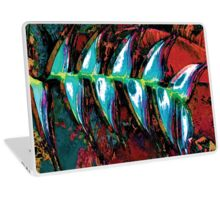 Flora Celeste Kyanite Aqua Aura Leaves  Laptop Skin