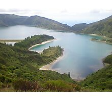 Fire Lake Azores Photographic Print
