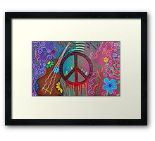 Peace and Love 2 Framed Print