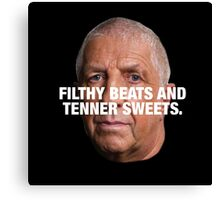 PETE PRICE - FILTHY BEATS AND TENNER SWEETS White Canvas Print