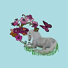 Pretty Unicorn And Colorful Flowers by SmilinEyes