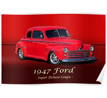 1947 Ford Super Deluxe Coupe w/ ID Poster